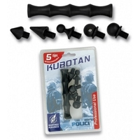Kubotan baton 12cm + 5 embouts - mini matraque