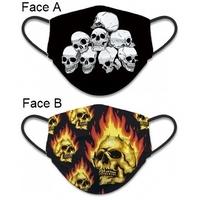Masque de protection Tête de Mort tissus lavable réversible