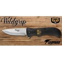 Couteau pliant 21cm LEOPARD design Castor