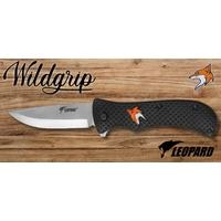 Couteau pliant 21cm LEOPARD design Renard