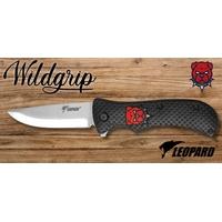 Couteau pliant 21cm LEOPARD design Dog chien