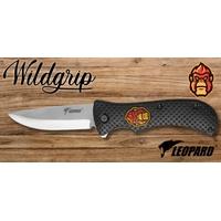 Couteau pliant 21cm LEOPARD design Gorille