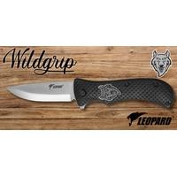 Couteau pliant 21cm LEOPARD design Loup