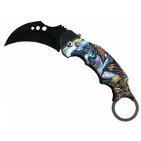 Couteau automatique cran d'arrêt Karambit Squelette