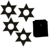 Pack 4 étoiles black ninja - Shuriken acier inox