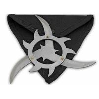 Etoile de lancer + étui, shuriken jet - gris