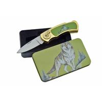 Coffret couteau Loup gris collection