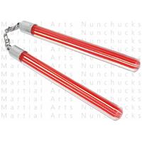 Nunchaku transparent en acrylique - Design rouge