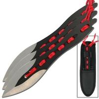 3 Couteaux Speed de lancer - Full tang tout acier