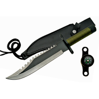 Poignard couteau de survie 33cm - Design Rambo