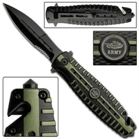 Couteau pliant tactique 20,5cm - Militaire