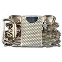 Boucle ceinture + briquet - Dollars squelette argenté2