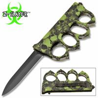 Couteau Zombie squelette 23cm antidérapant