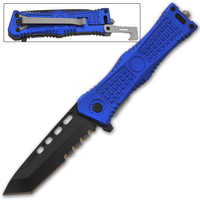 Couteau tanto tactique 20,5cm bleu