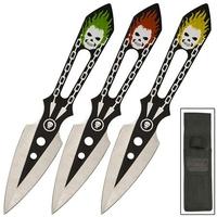 3 Couteaux lancer Joker - Couteau de jet