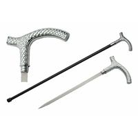 Canne épée 93cm celtique de marche - métal massif
