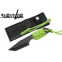 Couteau de survie + pierre allume feu