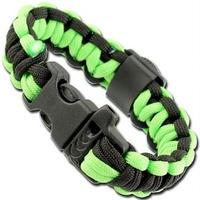 Bracelet paracorde survie + boussole, sifflet - AZ8402