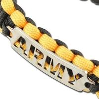 Bracelet paracorde survie + plaque métal Army4