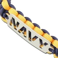 Bracelet paracorde survie + plaque métal Navy2