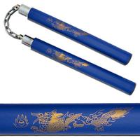 Nunchaku Dragon en mousse - idéal entraînement - bleu