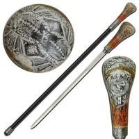 Canne épée 93cm de marche - médiéval dragon