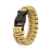 Bracelet en paracorde de survie - désert2