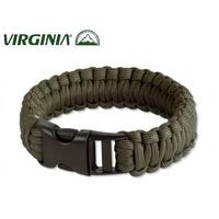 Bracelet en paracorde de survie, ultra-résistant - vert