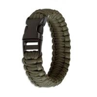 Bracelet en paracorde de survie - vert2