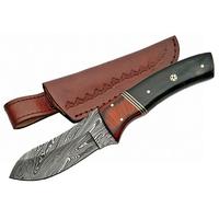 Couteau 22cm avec lame damas - poignard corne