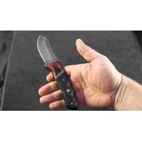 Couteau avec lame damas - poignard corne2
