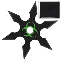 Shuriken étoile Zombie 6 pics - acier inox