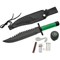 Poignard style Rambo kit de survie - couteau tactique
