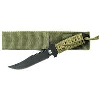 Couteau tactique 19cm militaire - full tang vert.