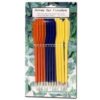 Pack 12 Flèches couleur pour arbalète - traits, carreaux