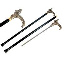 Canne épée 91,5cm de marche - métal design bélier
