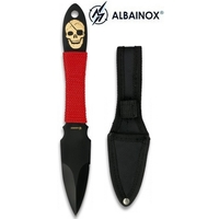 Couteau de lancer squelette 17,5cm - Full tang