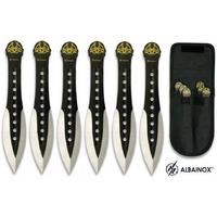Pack 6 couteaux de lancer 15cm - couteau jet ALBAINOX