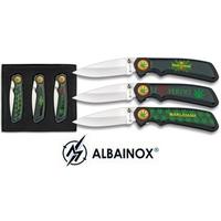 Coffret 3 couteaux cannabis marijuana - couteau beuh