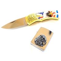 Coffret Aigle USA - couteau + briquet zippo.