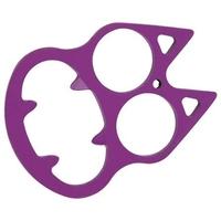 Poing américain décapsuleur USA, acier violet - discret.
