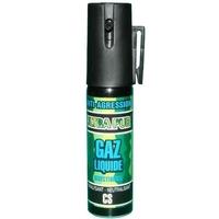 Bombe lacrymogène 25ml GAZ JET - aérosol spray lacrymo.
