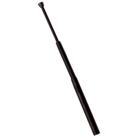 Matraque télescopique 43cm flexible métal - baton noir.