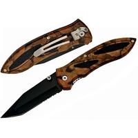 Couteau pliant 22cm de poche - Lame tanto noire