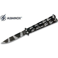 Balisong couteau papillon 22,5cm camouflage - ALBAINOX