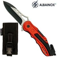 Couteau pliant 20cm sapeur pompier - design ALBAINOX