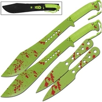 Lot 2 machettes 61cm + 2 couteaux 25cm - machette