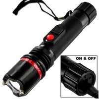 Taser shocker électrique LED - Tazer noir 3 800 000 volts