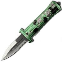 Couteau dague pliant 21,5cm - acier inox.