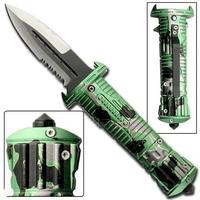 Couteau dague pliant 21,5cm - acier inox
